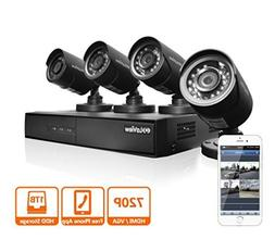 LaView 4 HD 720P Camera Security System, 8 Channel 720P HD-T