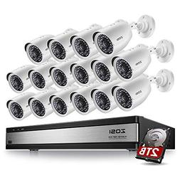 ZOSI 720p 16 Channel Security Camera System,16 Channel Hybri