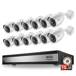 ZOSI 720p Security Camera System 16 Channel with Hard Drive