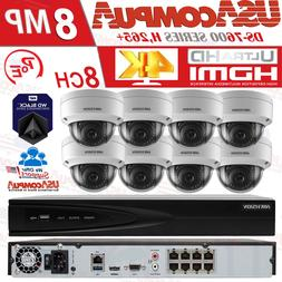Hikvision Security System NVR KIT 8CH Channel 4K 2MP Dome PO
