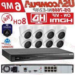 Hikvision Security System PoE 8CH IP Dome Weather/Proof 2MP