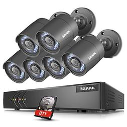 ANNKE 8-Channel 720P Security Camera System 1080N Digital Vi