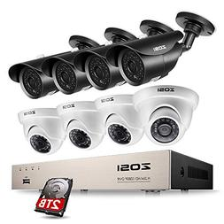 ZOSI 1080P Security System 8 Channel HD-TVI Video Recorder D