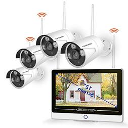 Security Camera System Wireless,SMONET 8CH 1080P Home Secur
