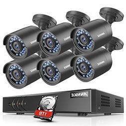 ANNKE Serveillance Camera System 8 Channel 1080P Lite DVR wi