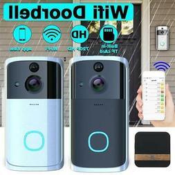 Smart WiFi Door Bell IR Visual Camera Record Wireless Video