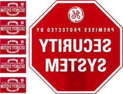 GE SmartHome Security Sign with Yard Stake and Window Decals