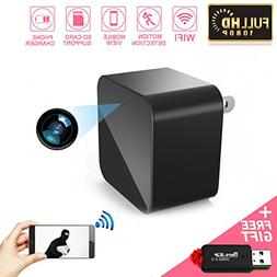 Spy Hidden Camera, WIFI Camera, HD 1080P Mini USB Charger Ca