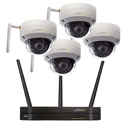 Q-See QCW4-4EQ-1 | 4 Dome Security Cameras with 3MP HD Wi-Fi