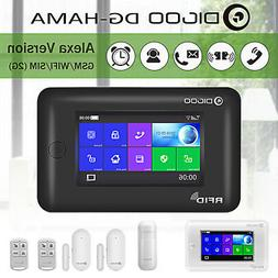 Digoo Touch Screen 2G GSM&WiFi Smart Home Security Alarm Sys