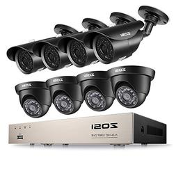 ZOSI 1080p Home Security Camera System, 8CH HD-TVI CCTV DVR