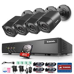 ANNKE 720p HD-TVI Video Security System with 2TB Hard Disk D
