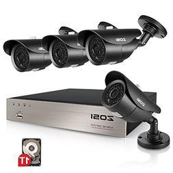 ZOSI 1080p HD-TVI Outdoor Surveillance System,8CH 1080p CCTV