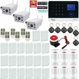 U80 WiFi GSM APP RFID Wireless Home Security Alarm System+3
