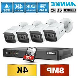 ANNKE Ultra HD 4K 8CH DVR 8MP Video Outdoor CCTV IR Security
