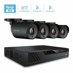 Amcrest UltraHD 4-Megapixel 4CH Video Security System with F