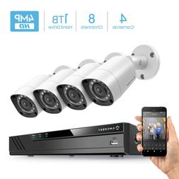 Amcrest UltraHD 4MP 8CH Video Security System Pre-installed
