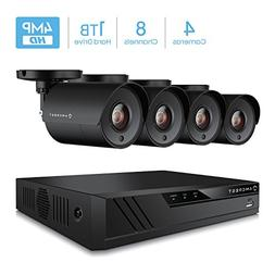 Amcrest UltraHD 4MP 8CH Home Security Camera System with 4 x
