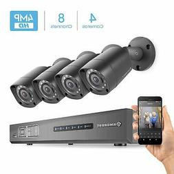 Amcrest UltraHD 4MP 8CH Video Security System - Four 4MP Wea