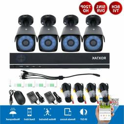US 5in1 8CH Security Camera System 1080P HDMI DVR 4pcs 1500T