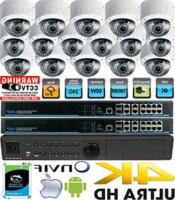 USG Business Grade H.265 Ultra 4K UHD 8MP 16 Camera Security