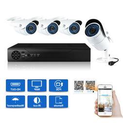 JOOAN Waterproof 4CH 960P POE System Bullet NVR Camera CCTV