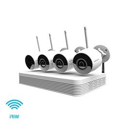 LaView 1080p wireless security camera system outdoor HD 4 ch
