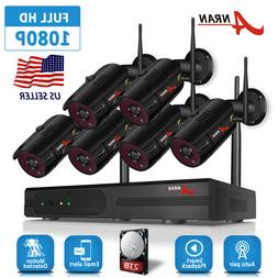 Wifi 8CH CCTV Security Camera System Wireless NVR Outdoor 10
