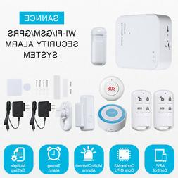 SANNCE WiFi Alarm Home Security System GSM Burglar Wireless