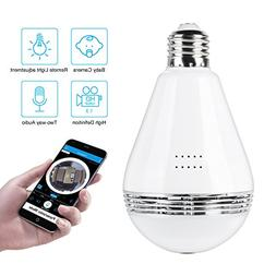 WIFI Camera Bulb VR Panoramic Bulb Camera with 360 Degree Fi