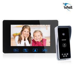 Wired Video <font><b>Doorbell</b></font> 7 Inch Video Interc