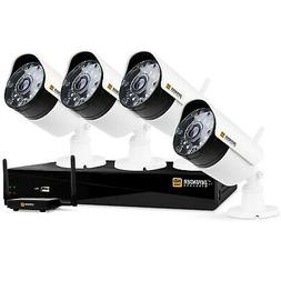 Defender Wireless HD 1080p 4 CH 1TB Security Kit with 4 Came