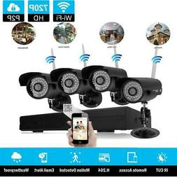 8Channel H.264 NVR 4 Outdoor IR-CUT WIFI Camera Home Securit