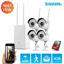ANNKE Wireless 4CH 1080P HDMI NVR 720P WiFi IR Home Security