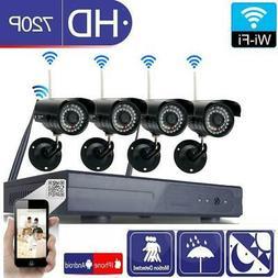 Wireless 8CH CCTV H.264 NVR 720P Outdoor WIFI IR-CUT Camera
