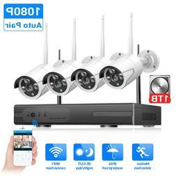 Hiseeu <font><b>Wireless</b></font> CCTV System 720P 1080P 2
