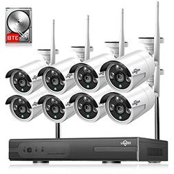 3TB HDD Pre-Install 8 Channel HD 1080P Wireless IP Camera Sy