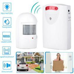 Wireless Driveway Alarm Infrared Motion Sensor Home Garage A