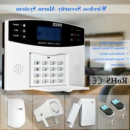 Wireless GSM SMS Home Burglar Security Alarm System Detector