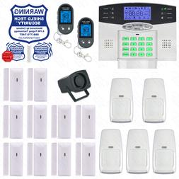 Wireless Home Security System 2-Way LCD Remote Burglar Alarm