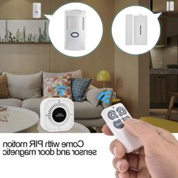 Wireless Security Alarm System Home Wifi App Remote PIR Door