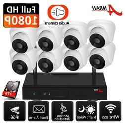 ANRAN Wireless Security Camera System 1080P CCTV WIFI NVR Ou