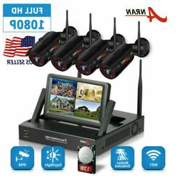 ANRAN Wireless Security Camera System 4CH HD WiFi 1080P NVR