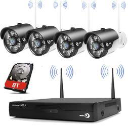 XVIM Wireless Security Camera System CCTV 4CH Outdoor Wifi I