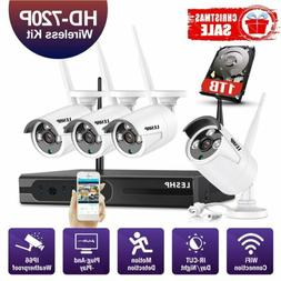 Wireless Security Camera System In/ Outdoor with 1TB HDD WiF