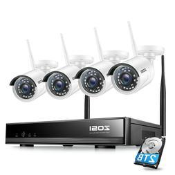 ZOSI 1080p Wireless Security Camera System 8 CH WIFI NVR 2TB