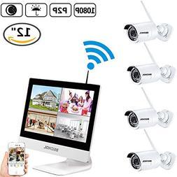 Bechol 1080P HD Wireless Security Surveillance IP Camera Sys