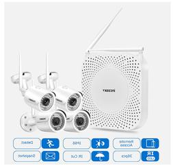Incosky Wireless Security System, 4-720P Wifi Mini Bullet Ca