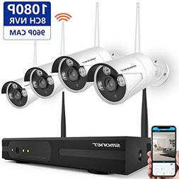 Wireless Security Camera System,SMONET Full HD 8CH 1080P Vi