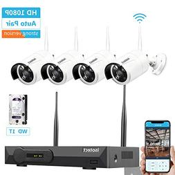 Wireless Security Camera System, ISOTECT 8CH Full HD 1080P